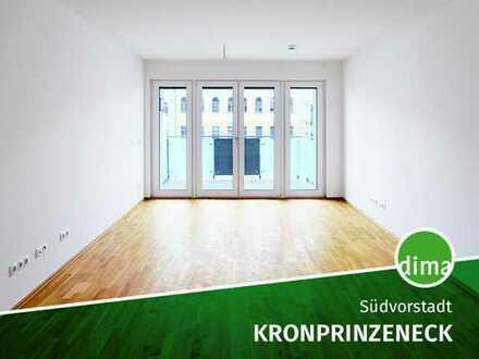 Lichtdurchfluteter, großer Wohnbereich m. EBK | Tageslichtbad m. Wanne | 2 Balkone | HWR | TG | Lift