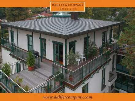 Außergewöhnliche Dachgeschosswohnung mit umlaufender Terrasse in Bestlage der Nauener Vorstadt