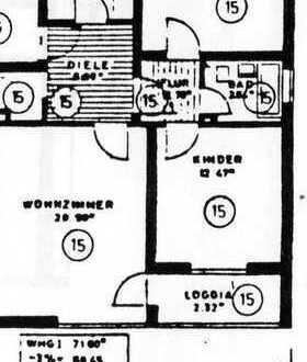 Sonnige drei Zimmer Wohnung in München, Hasenbergl