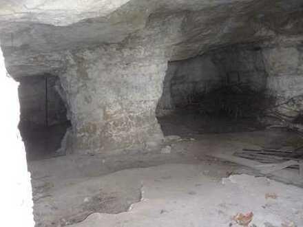 Traumhaftes Wochenendgrundstück mit zwei in Sandstein gehauene Höhlen in Halberstadt