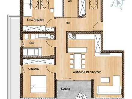 Erlangen-Dechsendorf: Große DG-Wohnung mit 3 Zimmern und Loggia!