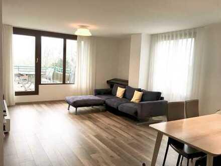 Vollständig renovierte 4-Zimmer-Maisonette-Wohnung mit Balkon und EBK in Kaiserswerth mit Rheinblick