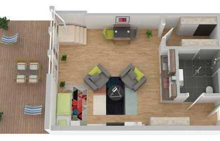 Terrassen-Appartement: Einbauküche, Eicheparkett, barrierefrei und Tiefgaragenstellplatz