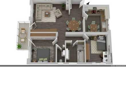 Gut geschnittene, helle 3-Zimmer-Eigentumswohnung am Ortsrand von Iffezheim