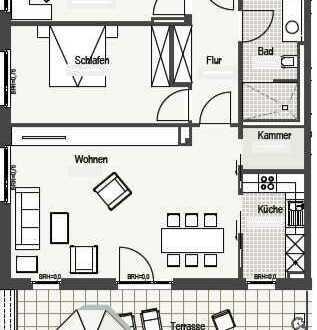 Helle, gepflegte Dachterrassenwohnung zu vermieten!
