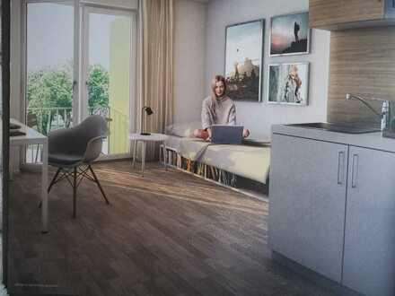 Erstbezug mit Einbauküche und Balkon: 1-Zimmer-Wohnung für Studenten/in in Freimann, München