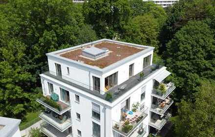 Neuwertiges Penthouse mit umlaufender Dachterrasse in Parklage - PROVISIONSFREI