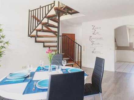 Gepflegte 4-Zimmer-Maisonette-Wohnung mit Balkon in Bergheim