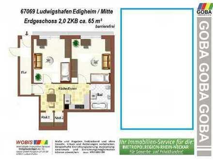 Oppau 2,0 ZKB 65 m² ETW Erdgeschoss barrierefrei/ruhige Wohnlage/auch für Monteure geeignet