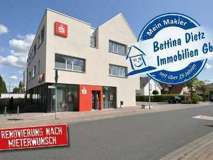 DIETZ: Büro- Praxisetage in BESTLAGE von Niedernberg zu vermieten! RENOVIERUNG NACH MIETERWUNSCH!