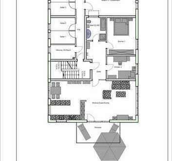 Großzügige 3-Zimmerwohnung mit Terrasse in zentraler Lage