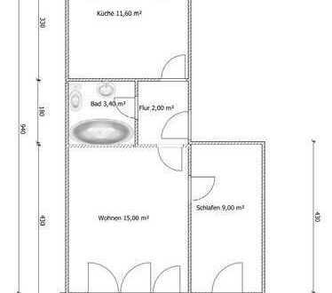 Ansprechende 1,5-Zimmer-EG-Wohnung mit Balkon in Offenburg