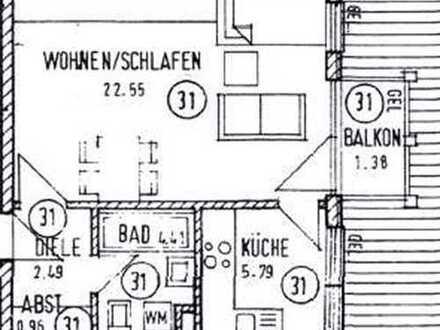 Gemütliche 1-Raum Wohnung mit Balkon