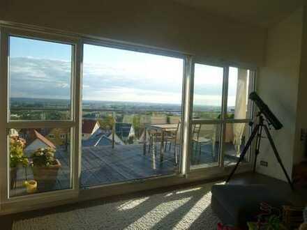 Penthouse-Wohnung mit Panoramablick voll ausgestattet zu vermieten