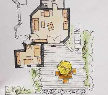 Ruhige 2-Zimmer-Terrassenwohnung in Herrenberg