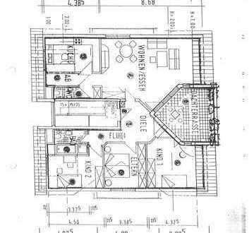 Exklusive, vollständig renovierte 4-Zimmer-Penthouse-Wohnung mit Balkon und EBK in Nußloch