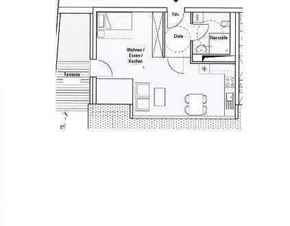 1- Zimmer Wohnung mit Terrasse / altersgerechtes Wohnen (Betreutes Wohnen)