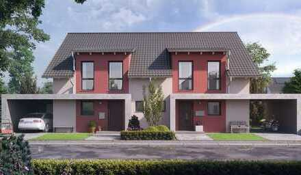 Auf gute Nachbarschaft: Doppelhaushälfte in Langenselbold