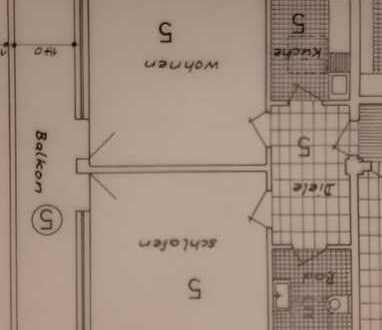 Sanierte 2-Zimmer-Wohnung mit Balkon und EBK in Moers