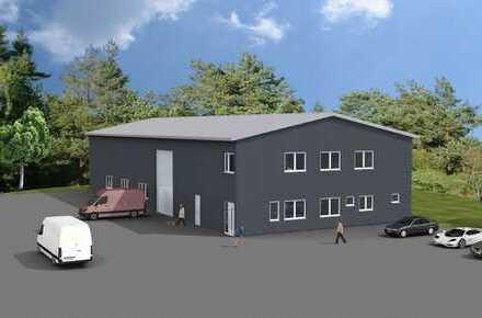Werkstatthallenneubau mit Büroflächen Direktanbindung B 29 in Urbach zu vermieten