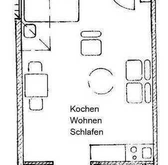 1 Zimmer-Appartement, Kochnische, Bad, 33,27 m² Wfl.