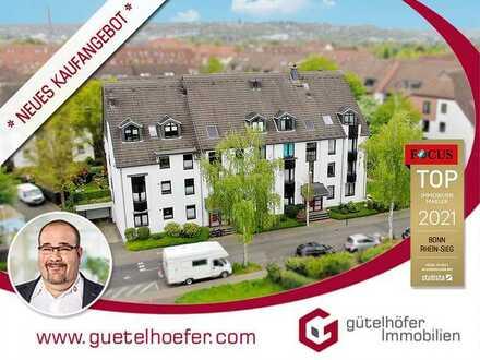 Solide vermietete Zweiraumwohnung mit Balkon und Tiefgaragenstellplatz in Duisdorf - Gebotsverfahren
