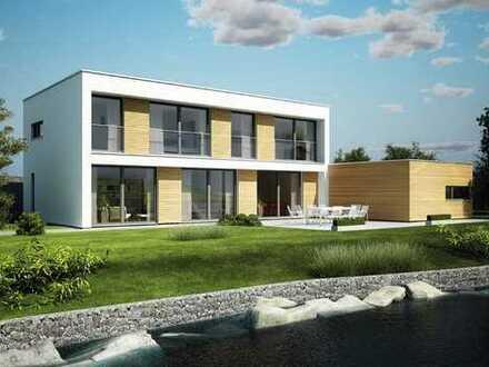 Wunderbarer Bauplatz mit herrlicher Süd-West-Ausrichtung, bebaut mit einem KAMPA-Wohlfühlhaus