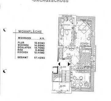 Gemütliche, sanierte 2-Zimmer-Dachgeschosswohnung zur Miete in Dresden