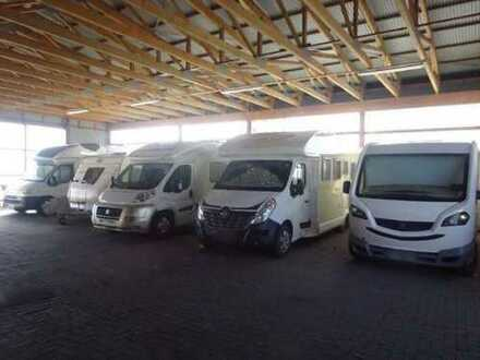Stellplatz, Lagerplatz, Stellfläche, Garage für Wohnmobil und Wohnwagen