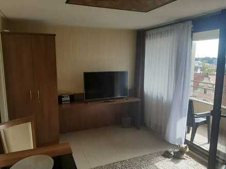 Stilvolle, gepflegte 1-Zimmer-Wohnung mit Balkon und Einbauküche in Neu-Ulm