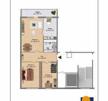 schöne 3-Zimmer-Wohnung in ruhiger Lage!