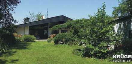 KA-Grünwettersbach / außergewöhnliches Architektenhaus auf großem Eckgrundstück in ruhiger Hanglage