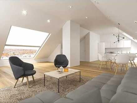 Einmalige 3-Zimmer-Wohnung im Dachgeschoss - Schlafzimmer mit Ankleide und Bad en Suite