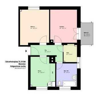 *Obergiesing*2 Zimmer*Küche mit EBK*Balkon*