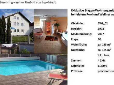 4 Zimmer-Wohnung mit beheiztem Pool, Sauna und Wellnessraum