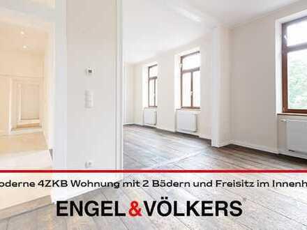 Moderne 4 ZKB Wohnung mit 2 Bädern und Freisitz im Innenhof!