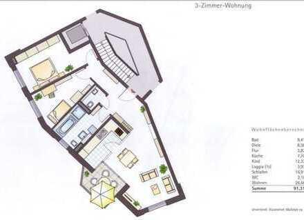 Erstbezug: schöne 3-Zimmer-Wohnung mit Einbauküche und Balkon in Kempten (Allgäu)
