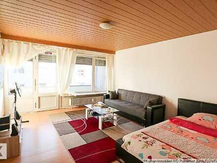 Vermietete 1-Zimmerwohnung mit zwei Balkonen!