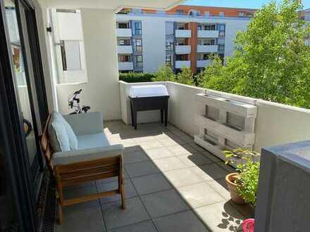Neuwertige 3-Raum-Wohnung mit Balkon und Einbauküche in Karlsruhe