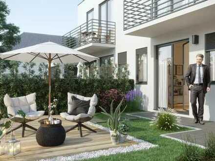 elegante Villenhälften mit sonnigem Garten in Großhadern mit Realteilung