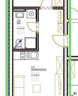 2 Zimmer Single Wohnung in ruhiger Lage