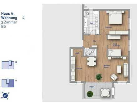 3,5-Zimmer-Wohnung - Wohnung 2 im EG