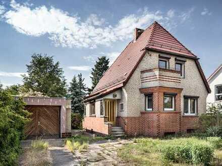 Teilbares Grundstück mit kleinem Einfamilienhaus im grünen Kaulsdorf