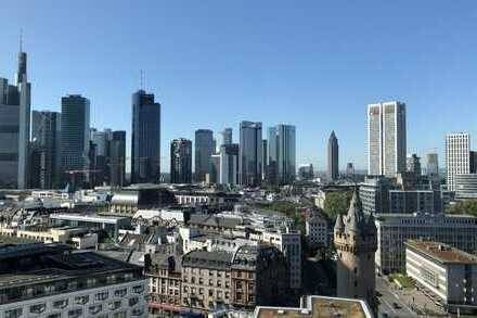 Atemraubende Sicht auf Frankfurt + Umland - exklusiv wohnen + arbeiten auf 15. Etage im Skylight