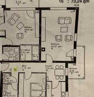 2-Zimmer-Wohnung mit Balkon, Einbauküche und Kfz-Stellplatz in Horb- Hohenberg