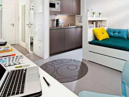 Möblierte 1-Zimmer-Wohnung für Studenten in Heidelberger Bahnstadt