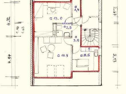 Freundliche, helle, gepflegte 2-Zimmer-DG-Wohnung zur Miete in Allershausen