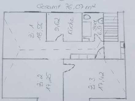 Erstbezug nach Sanierung: attraktive 3-Zimmer-DG-Wohnung zur Miete in Ludwigshafen Süd