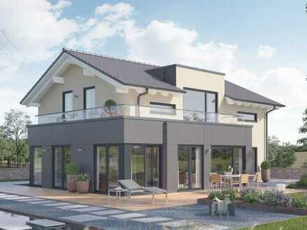 Neubau: Einfamilienhaus von Schwabenhaus ca. 180 m² Wfl. & ca. 758 m² Grundstück in 82131 Stockdorf