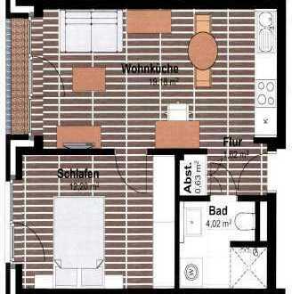 Zum 1.12.2018 1,5 Zimmer Appartement mit EBK in Uni Nähe - OL-Wechloy
